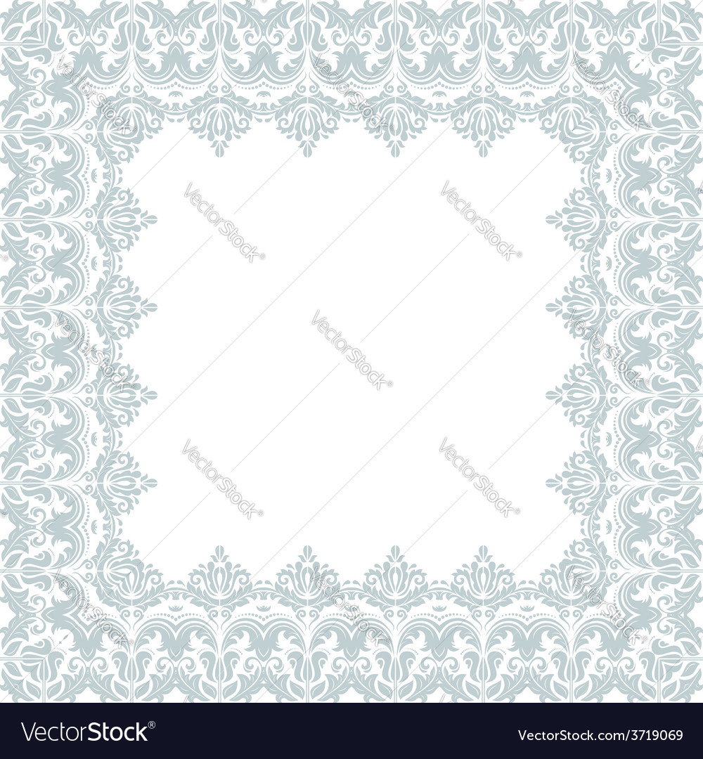 Floral frame abstract ornament vector | Price: 1 Credit (USD $1)