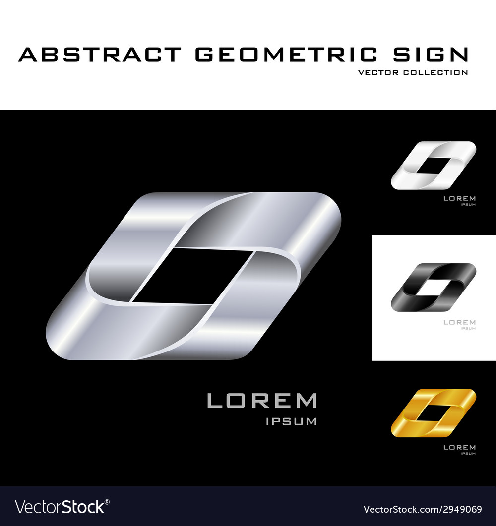 Geometrical sign logo design template black white vector | Price: 1 Credit (USD $1)