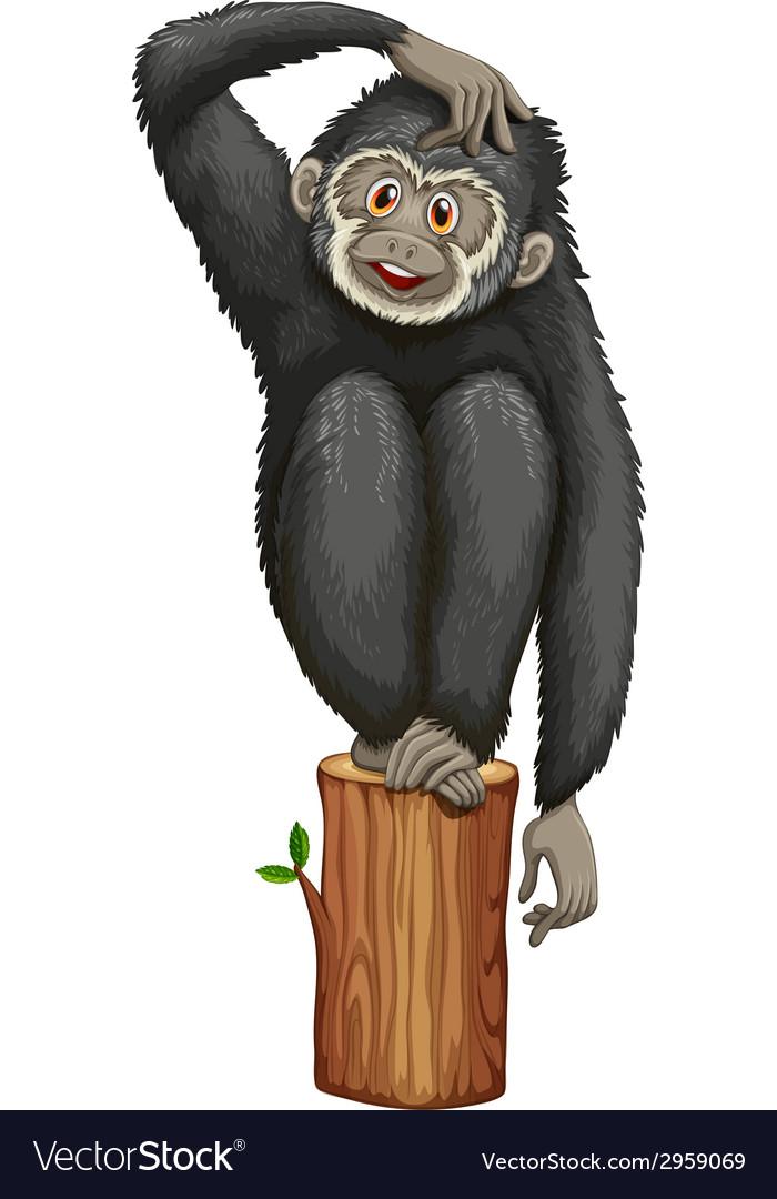Gibbon vector | Price: 1 Credit (USD $1)