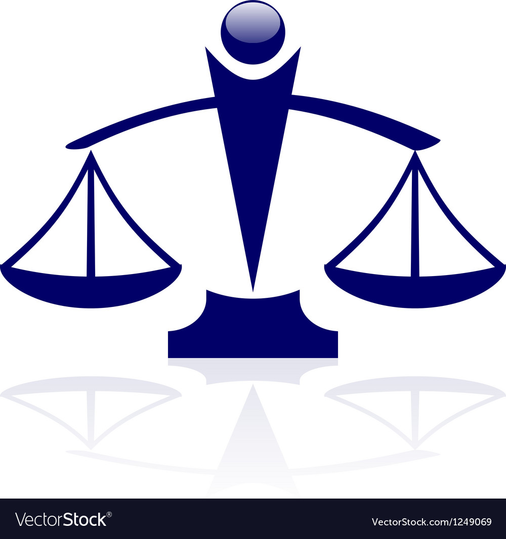 Icon - justice scales vector | Price: 1 Credit (USD $1)