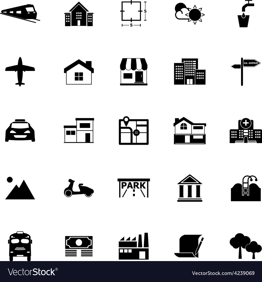 Real estate icons on white background vector | Price: 1 Credit (USD $1)