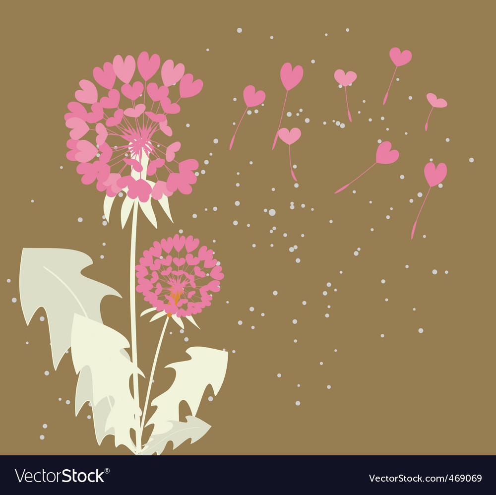Romantic dandelions vector | Price: 1 Credit (USD $1)