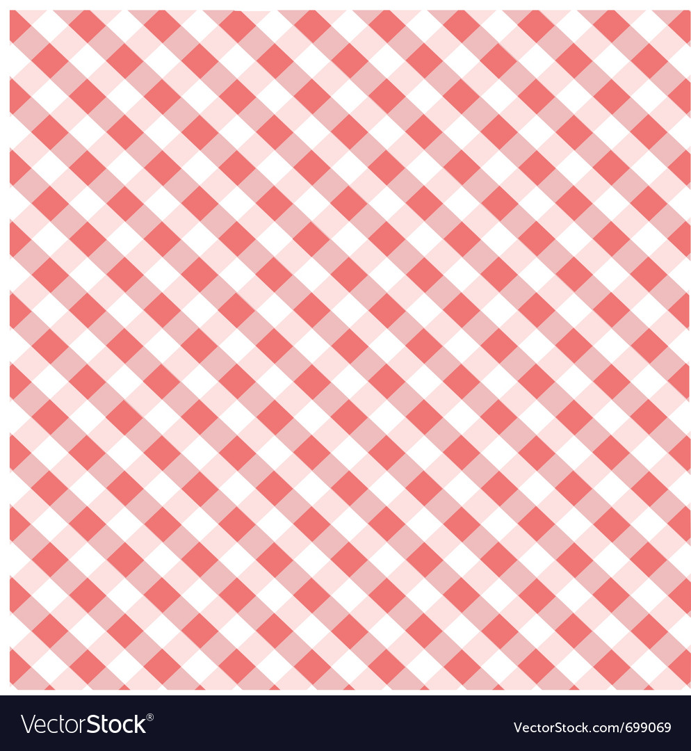 Seamless red plaid pattern vector | Price: 1 Credit (USD $1)