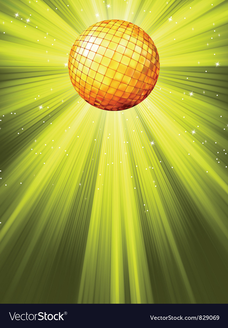 Sparkling disco ball background vector | Price: 1 Credit (USD $1)