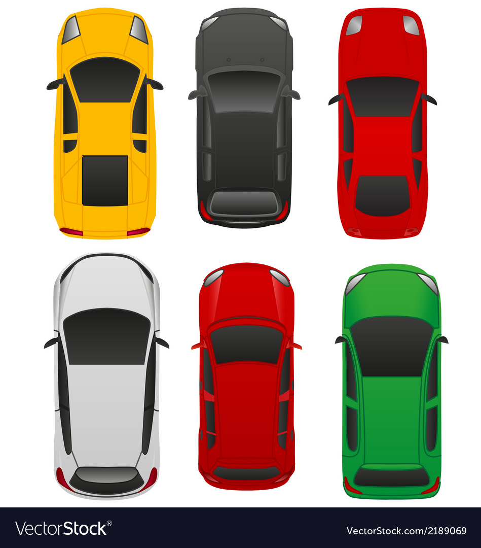 Top car view v1 vector | Price: 1 Credit (USD $1)