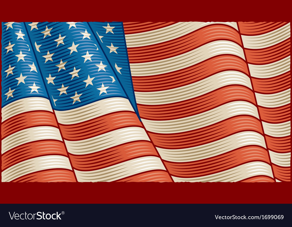 Vintage american flag background vector | Price: 1 Credit (USD $1)