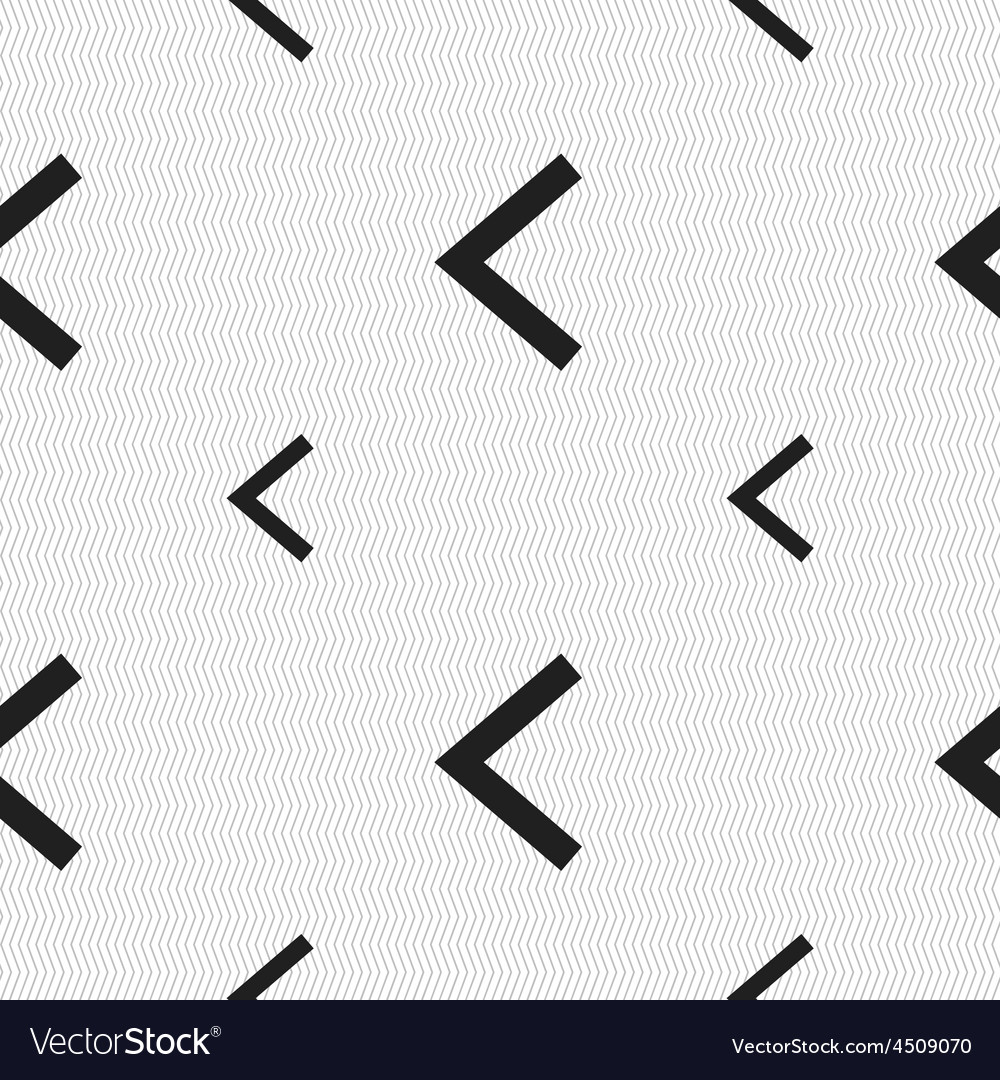 Arrow left way out icon sign seamless pattern with vector | Price: 1 Credit (USD $1)