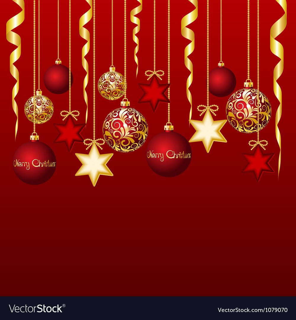 Elegant christmas background vector | Price: 1 Credit (USD $1)