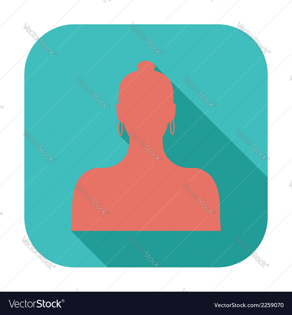 Female avatar single icon vector | Price: 1 Credit (USD $1)