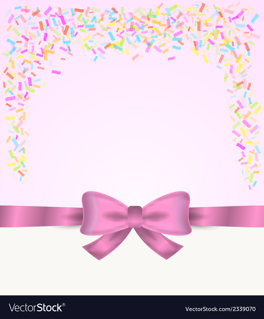 Gift card and confetti vector | Price: 1 Credit (USD $1)
