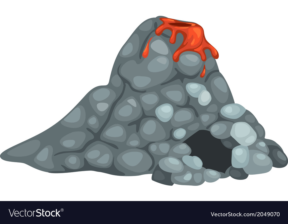 Isolated volcano vector | Price: 1 Credit (USD $1)