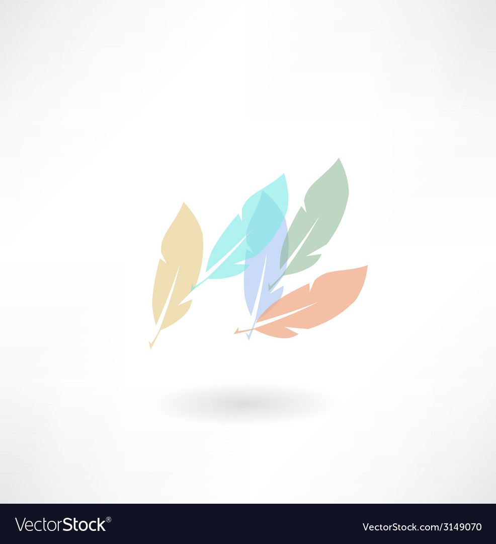 Plumage icon vector | Price: 1 Credit (USD $1)