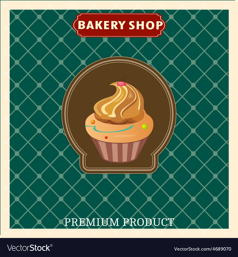 Retro style bakery vector | Price: 1 Credit (USD $1)