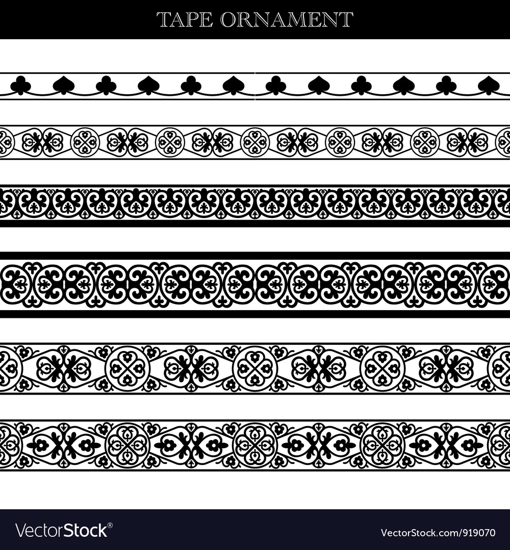 Tape ornament vector | Price: 1 Credit (USD $1)