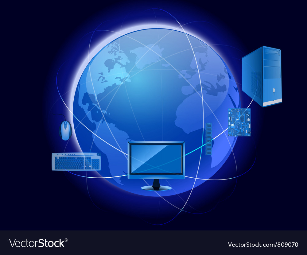 Technology world vector | Price: 1 Credit (USD $1)