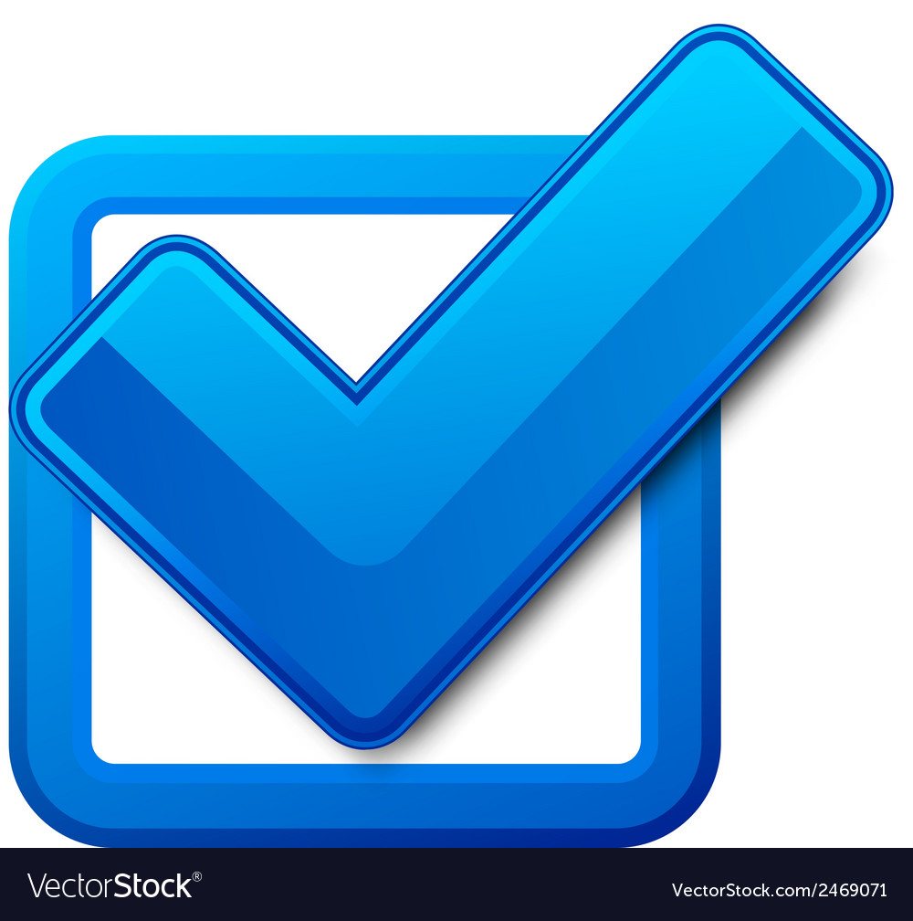 Blue check box vector | Price: 1 Credit (USD $1)