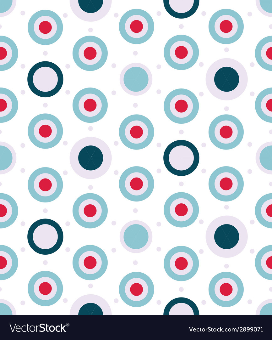 Dotted seamless pattern in aqua colors palette vector | Price: 1 Credit (USD $1)