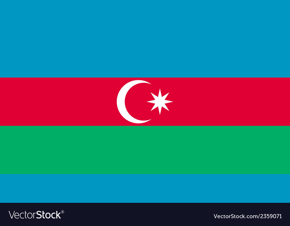Flag of azerbaijan vector | Price: 1 Credit (USD $1)