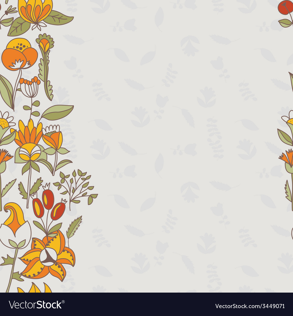 Flower border seamless texture with flowers use as vector | Price: 1 Credit (USD $1)