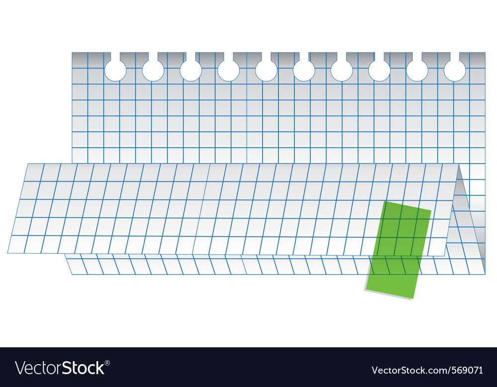 Folded checked paper sheet vector | Price: 1 Credit (USD $1)