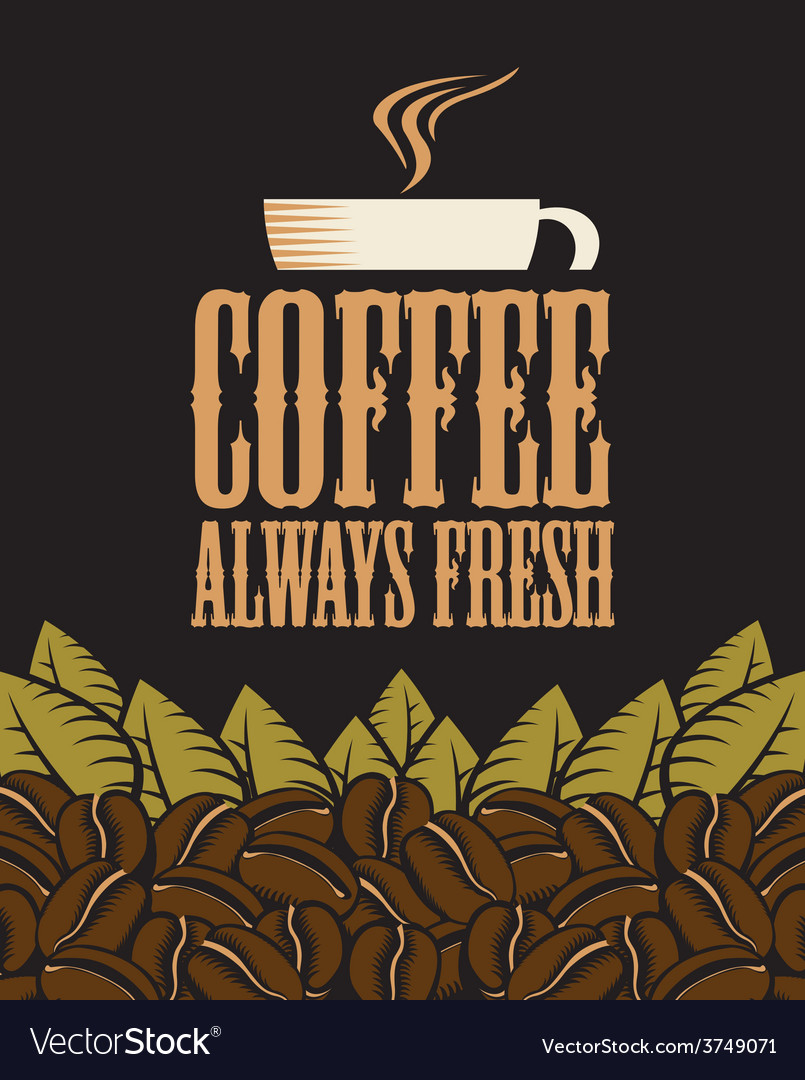 Fresh coffee vector | Price: 1 Credit (USD $1)