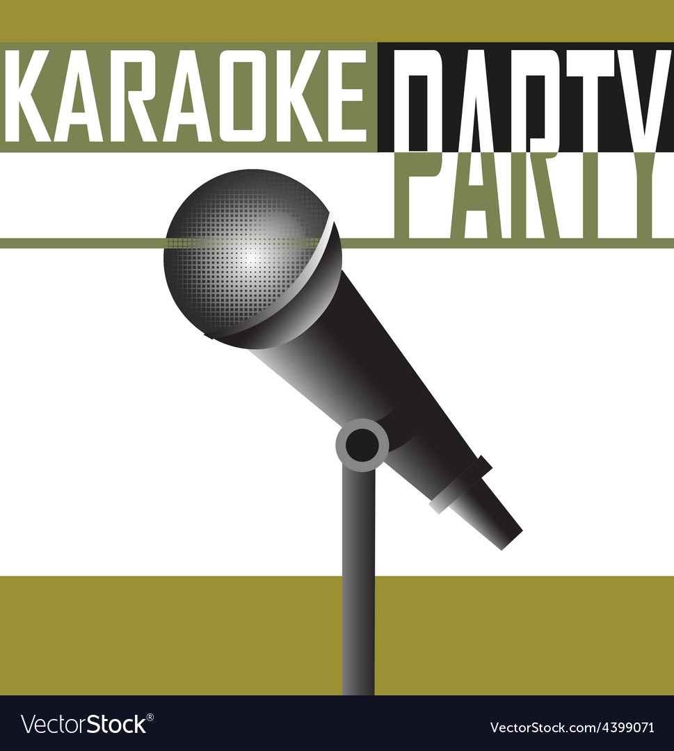 Karaoke party background vector | Price: 3 Credit (USD $3)