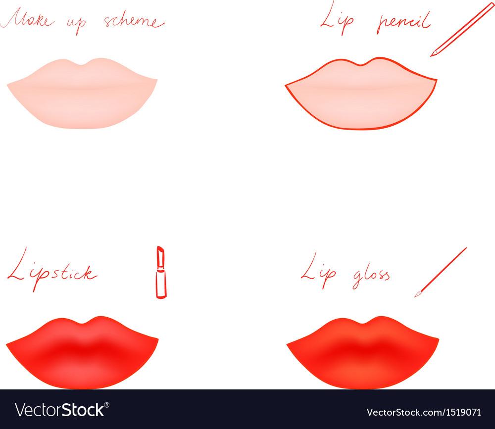 Make up scheme vector | Price: 1 Credit (USD $1)