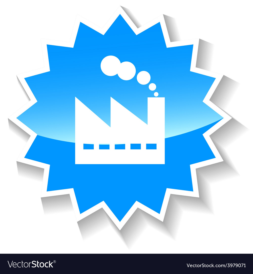 Plant blue icon vector | Price: 1 Credit (USD $1)
