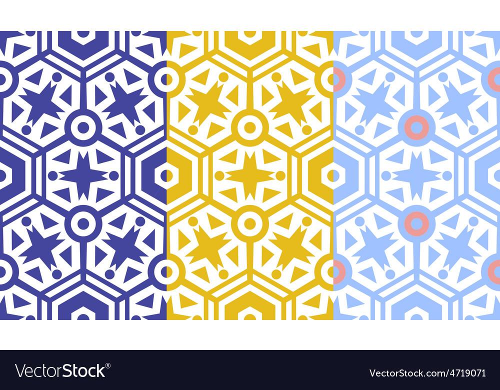 Retro geometric hexagon seamless pattern vector | Price: 1 Credit (USD $1)