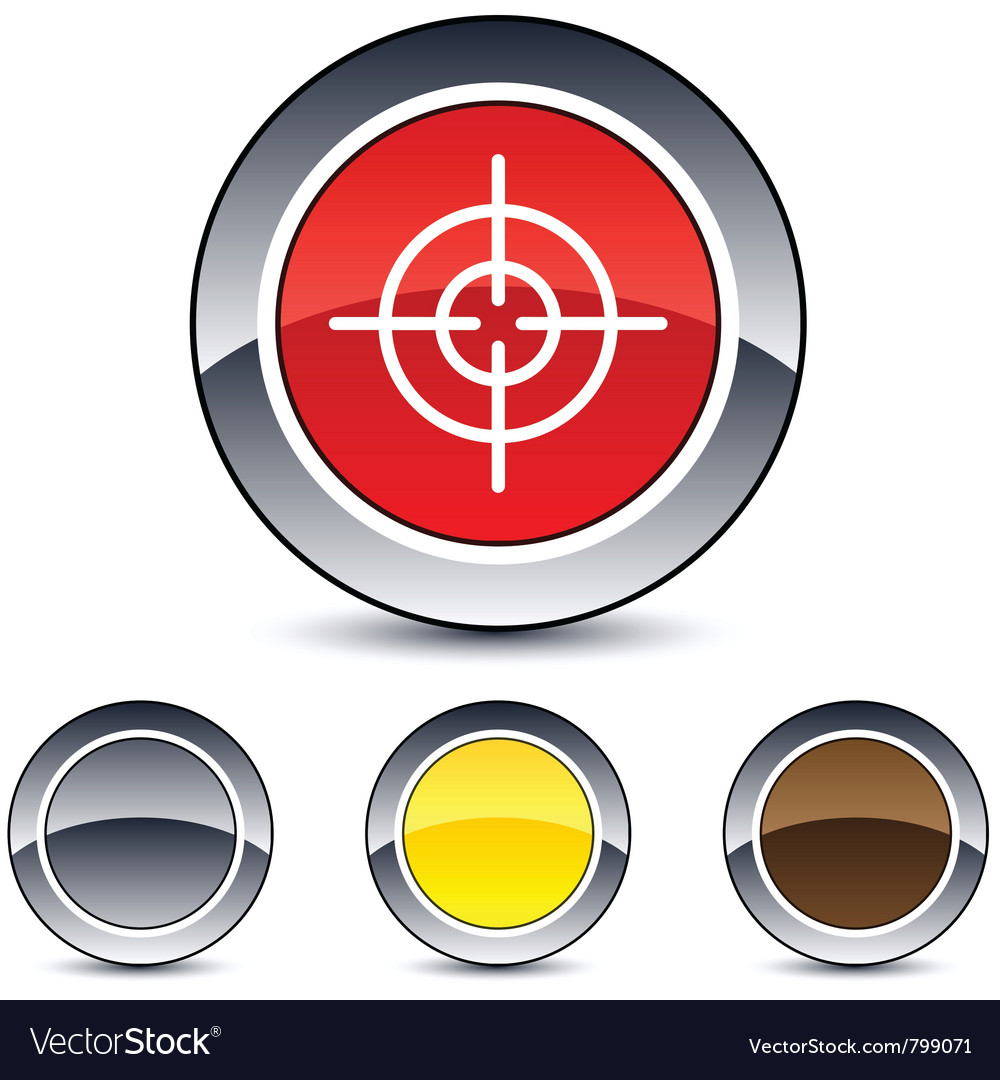Sight round button vector | Price: 1 Credit (USD $1)
