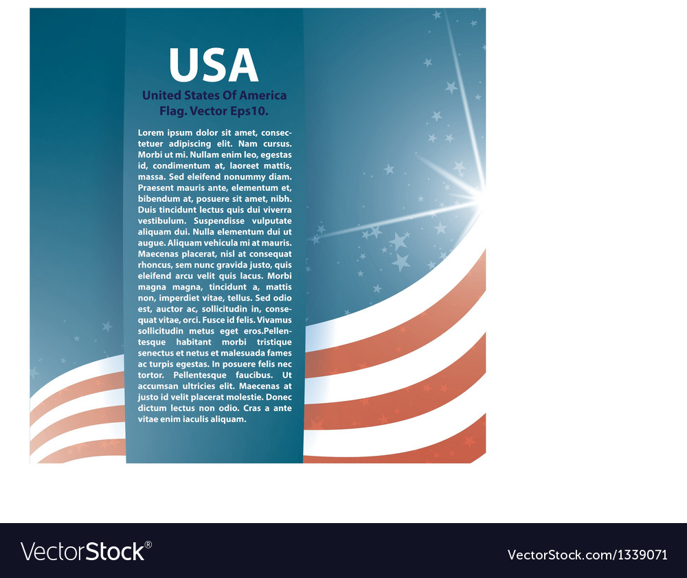 Usa flag stars and text abstract background vector | Price: 1 Credit (USD $1)
