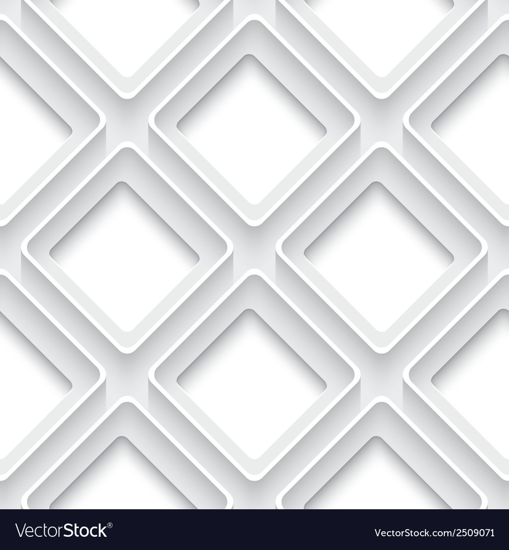 White abstract seamless background square with 3d vector | Price: 1 Credit (USD $1)