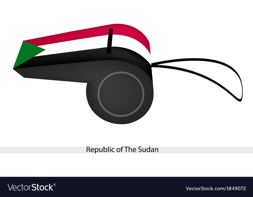 A whistle of republic of the sudan vector | Price: 1 Credit (USD $1)