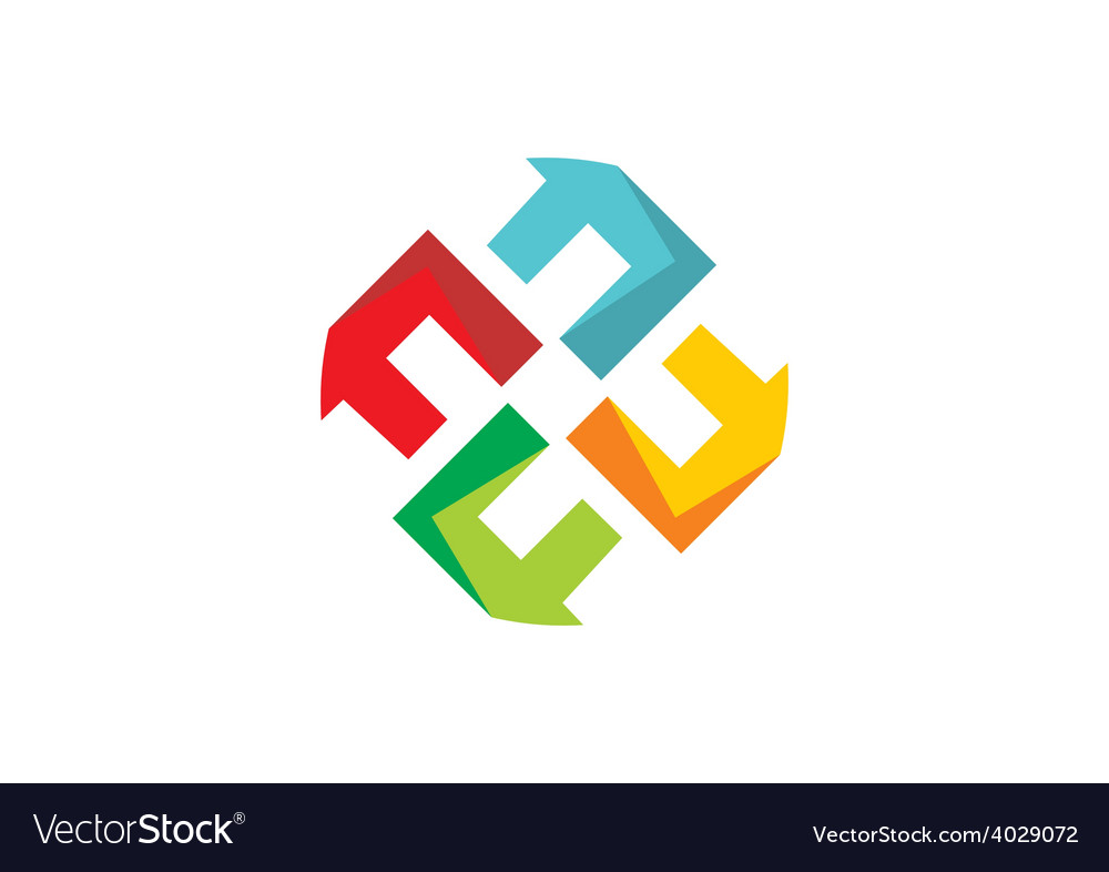 Abstract circle geometry logo vector   Price: 1 Credit (USD $1)