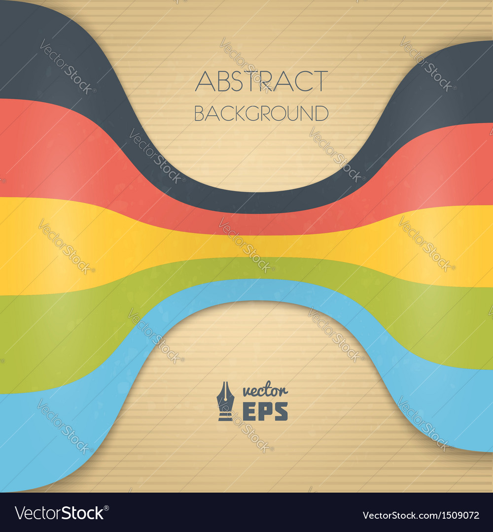Abstract vintage ribbons background vector | Price: 1 Credit (USD $1)