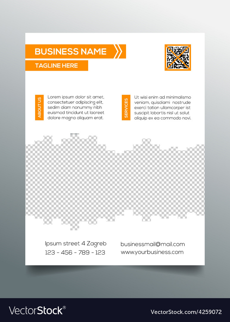 Business flyer template - sleek modern design vector | Price: 1 Credit (USD $1)