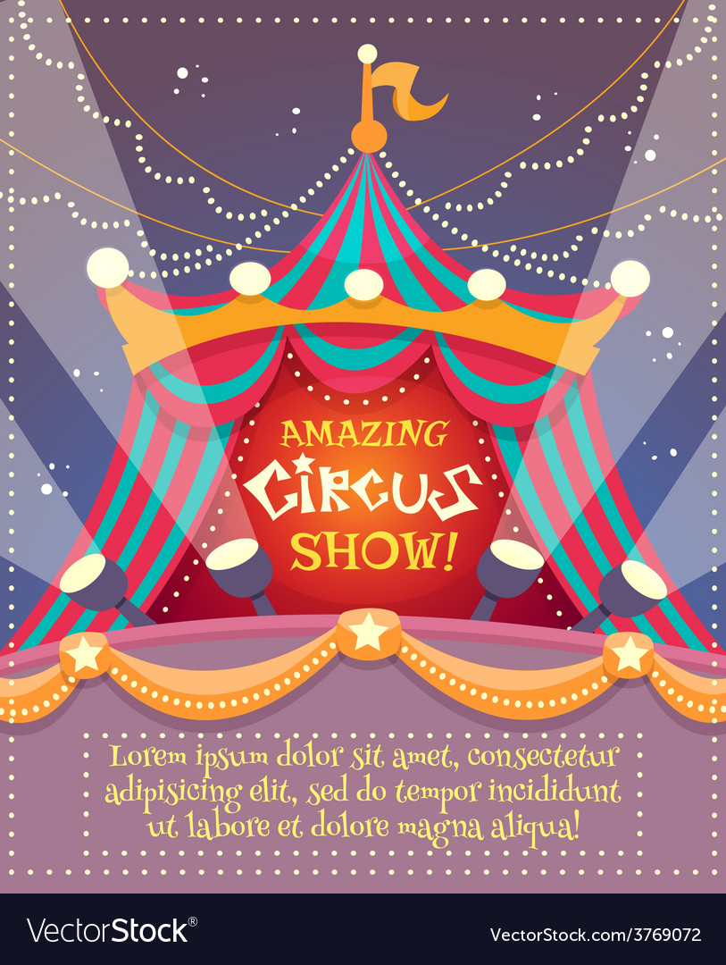 Circus vintage poster vector | Price: 1 Credit (USD $1)