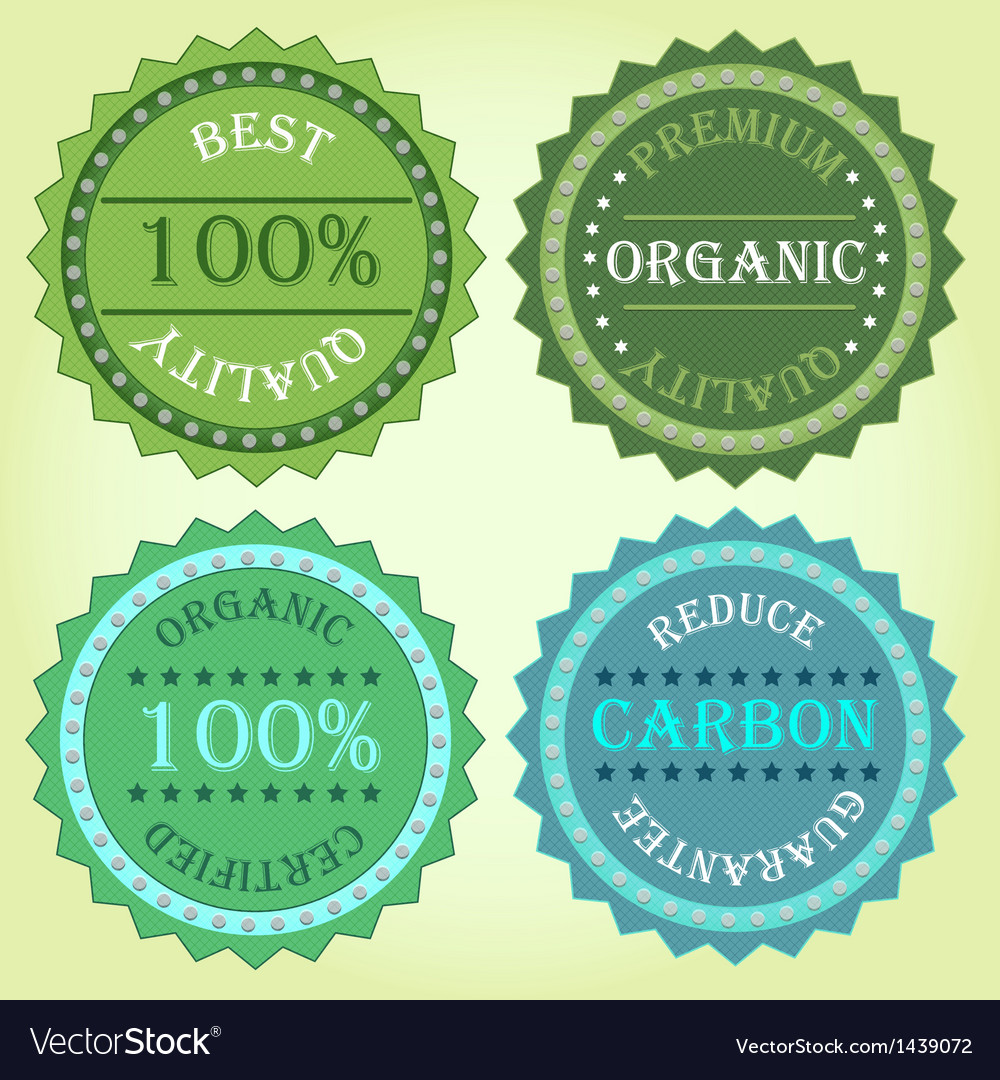 Collection of eco label product vector | Price: 1 Credit (USD $1)