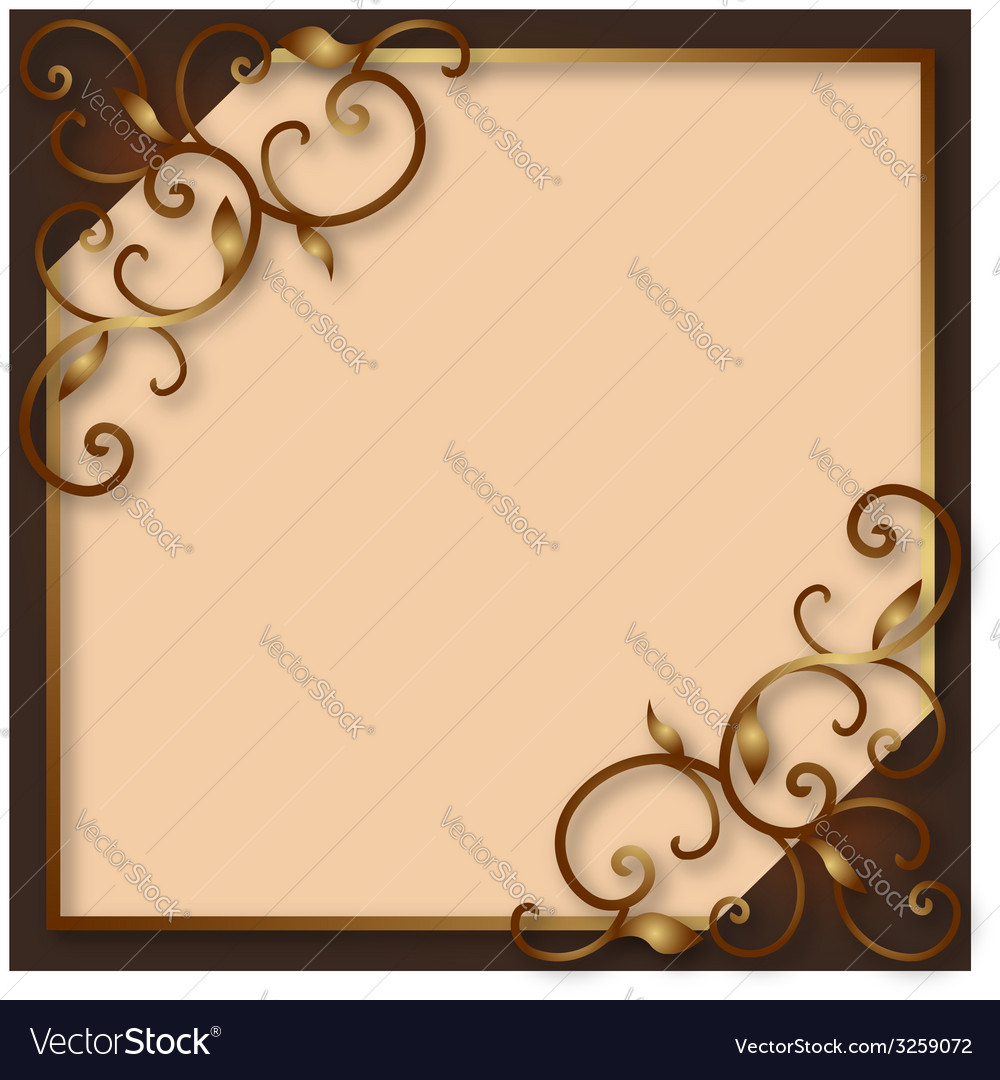 Decorative vintage frame vector | Price: 1 Credit (USD $1)