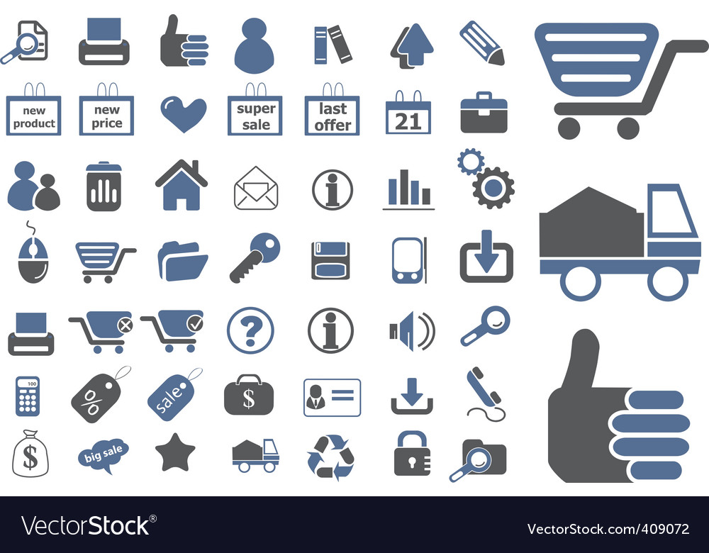 Ecommerce signs vector | Price: 1 Credit (USD $1)