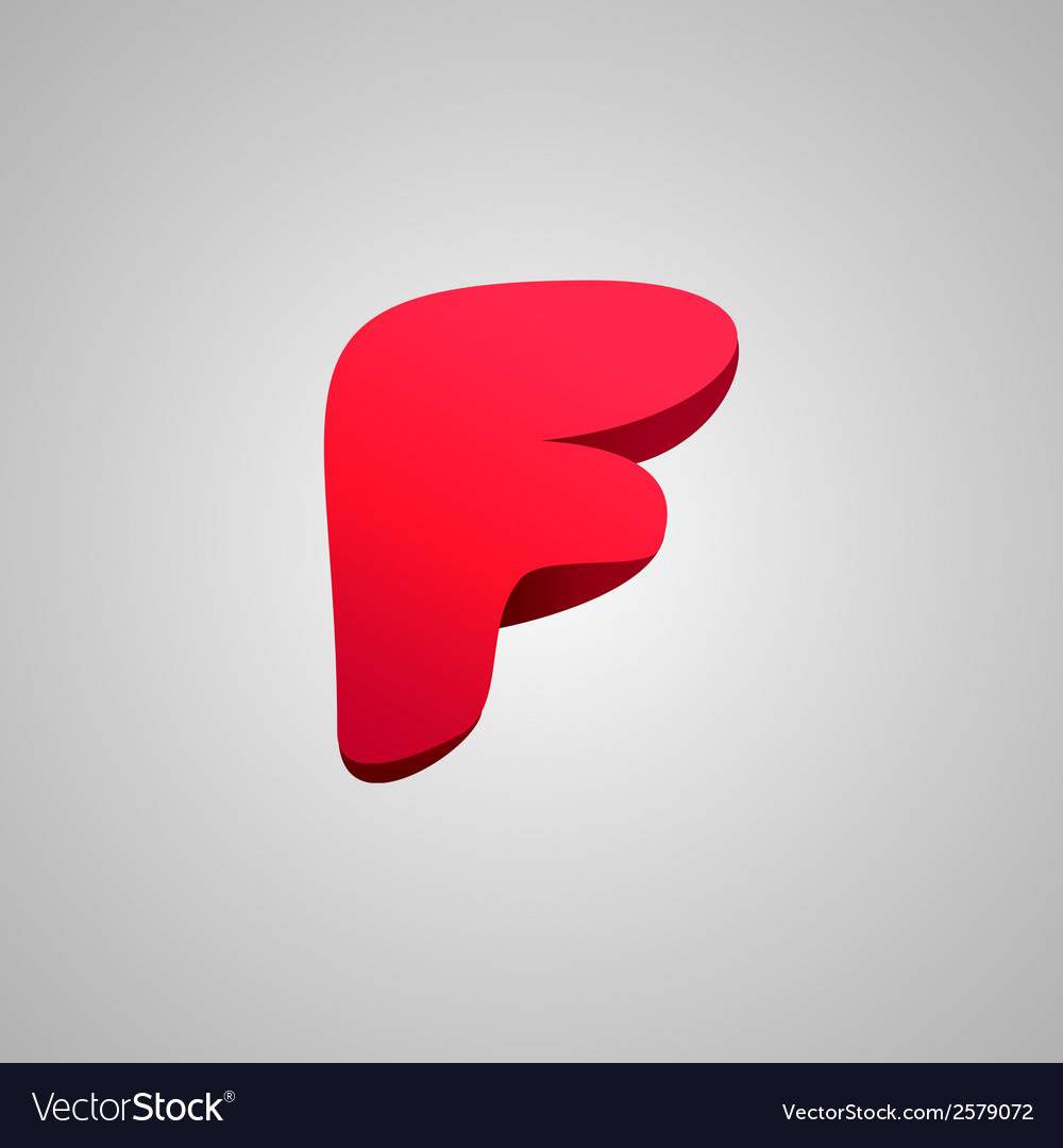 Letter f comic style font eps10 vector | Price: 1 Credit (USD $1)