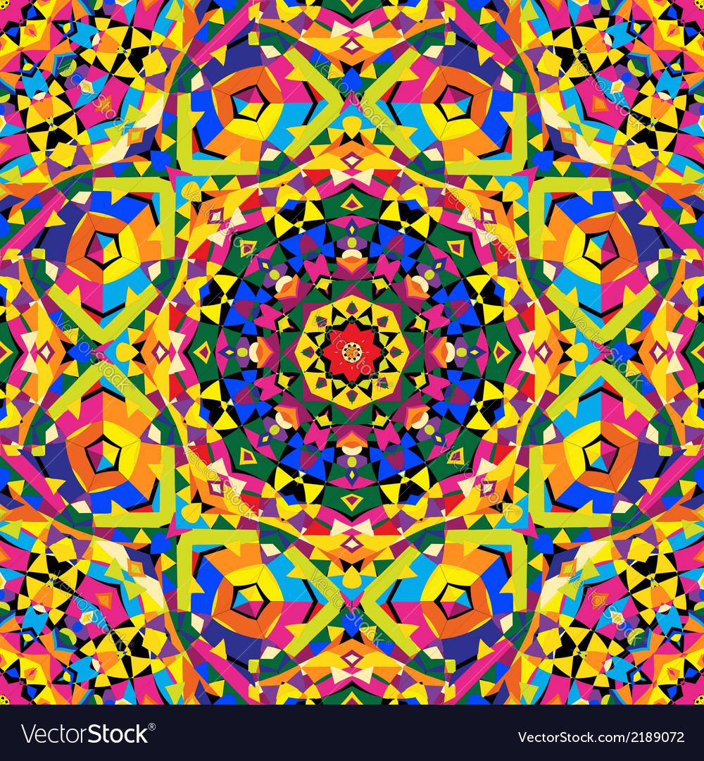 Seamless kaleidoscope pattern vector | Price: 1 Credit (USD $1)