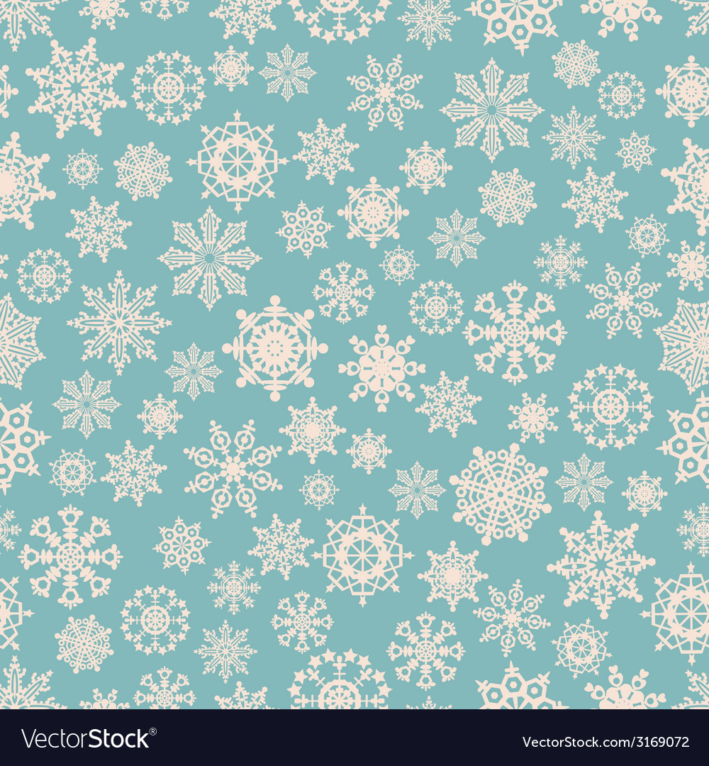 Seamless winter background with snowflakes vector | Price: 1 Credit (USD $1)