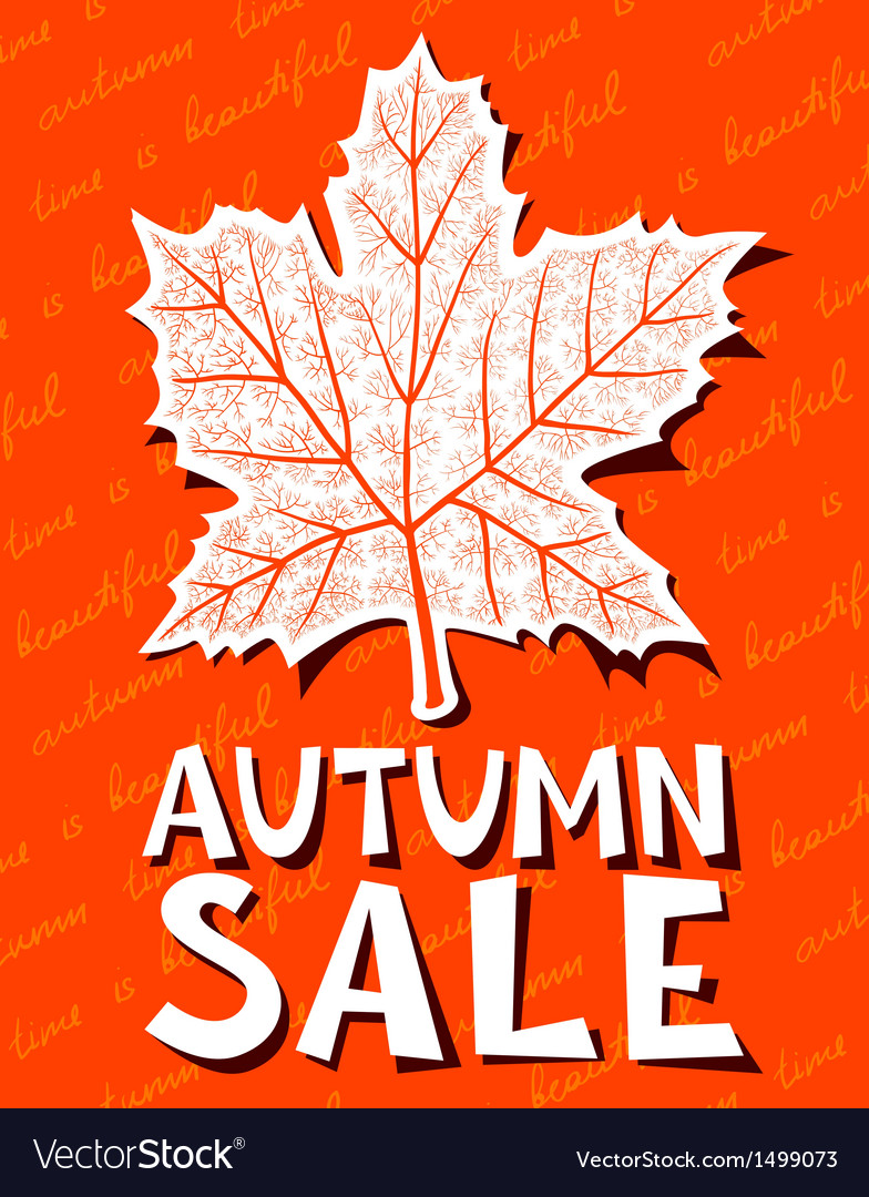 Autumn sale background vector | Price: 1 Credit (USD $1)