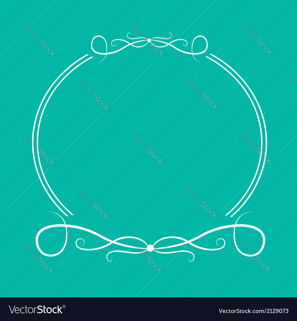 Calligraphic round frame 4 abstract design element vector | Price: 1 Credit (USD $1)