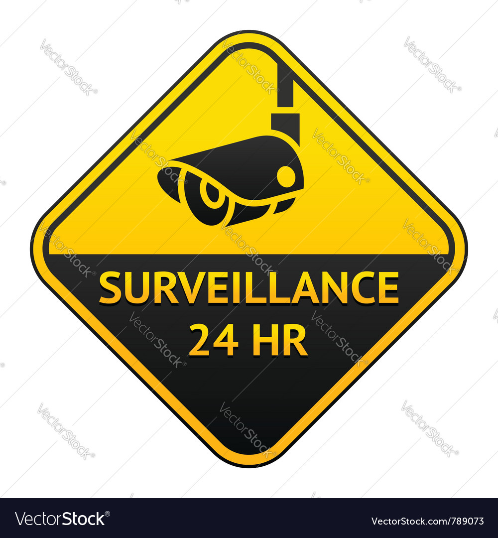 Cctv pictogram video surveillance sticker vector | Price: 1 Credit (USD $1)
