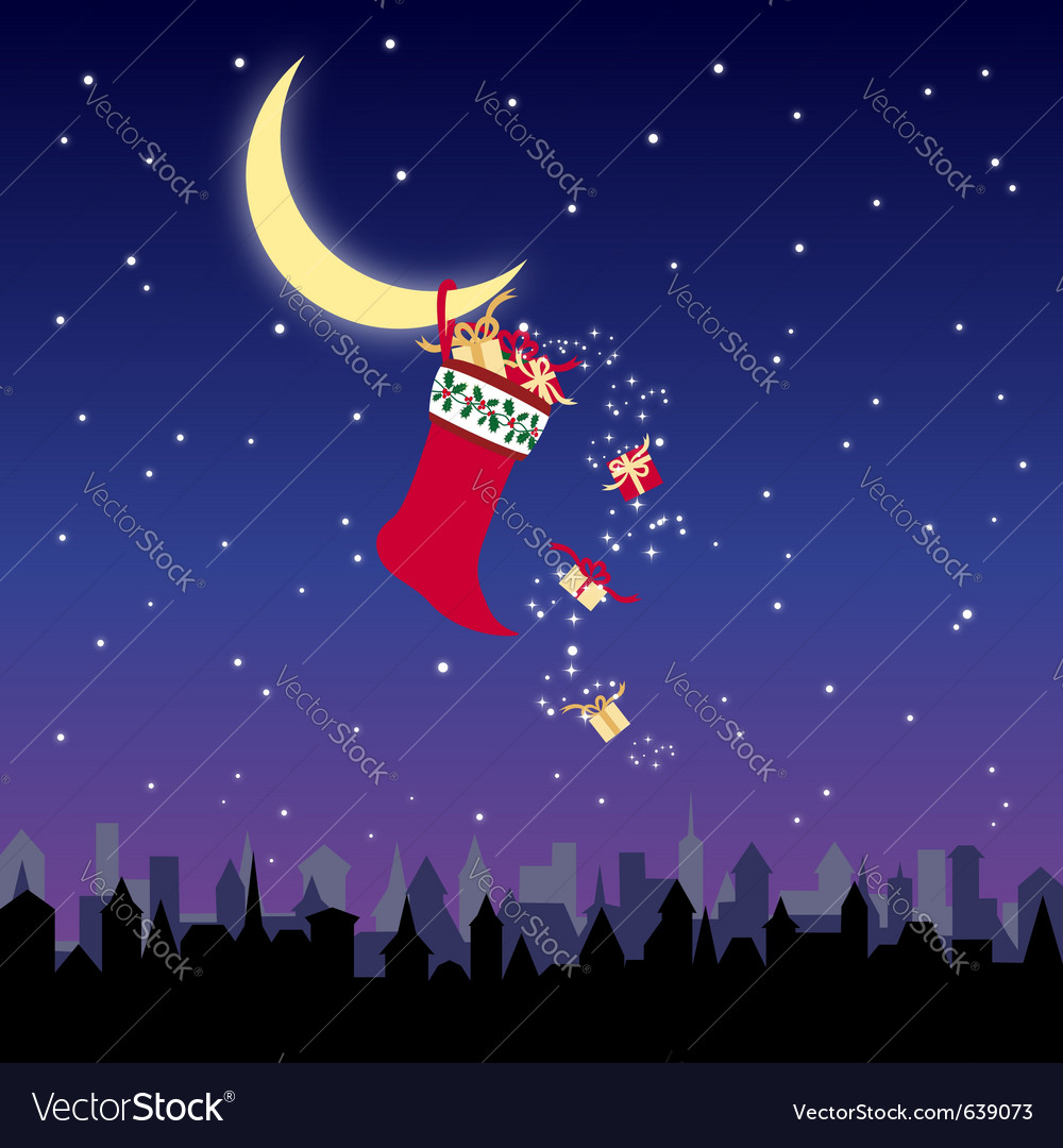 Christmas stocking vector   Price: 1 Credit (USD $1)