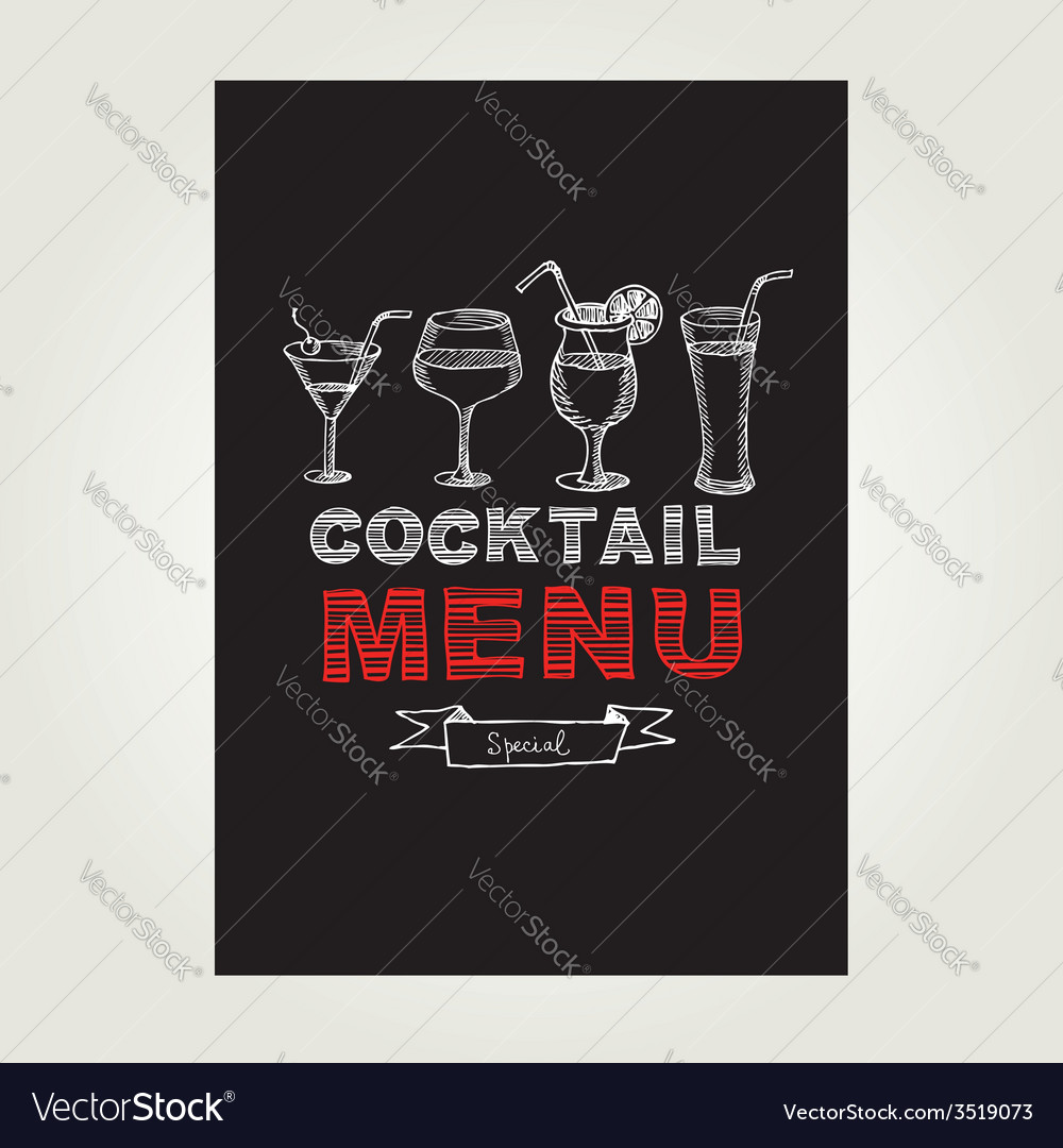 Cocktail bar menu template design vector | Price: 1 Credit (USD $1)