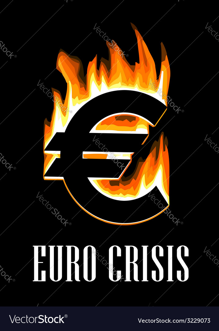 Euro crisis concept vector | Price: 1 Credit (USD $1)