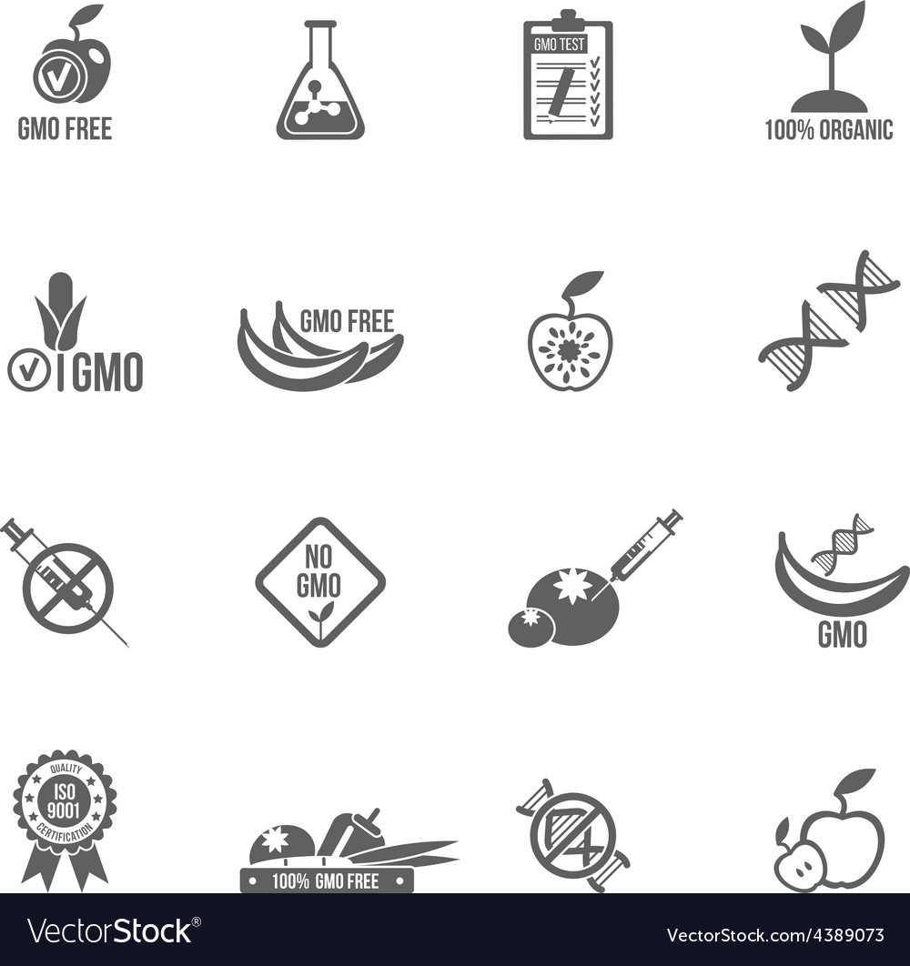 Gmo icons set vector | Price: 1 Credit (USD $1)